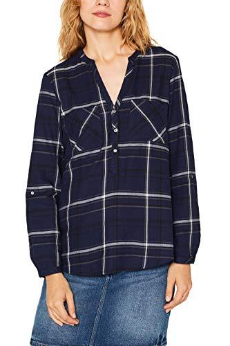 edc by ESPRIT Damen 099Cc1F006 Bluse, Blau (Navy 400), X-Large (Herstellergröße: XL)