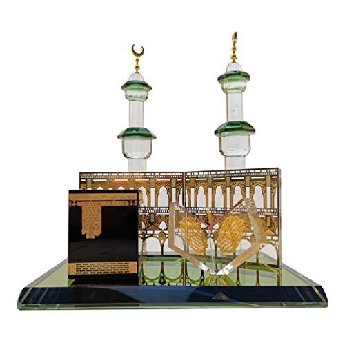 Garneck Eid Ornamente Kristall Gebäude Modell Miniatur Modell Prunkstück Islamische Architektur für Geschenk Ornament Home Office Dekor