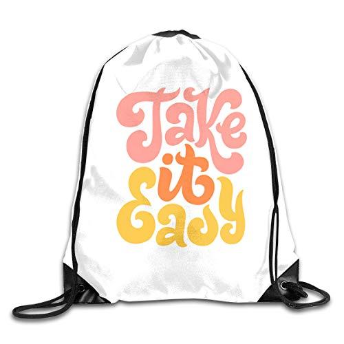 Willo-ltd Take it Easy - Mochila de Viaje con cordón para H