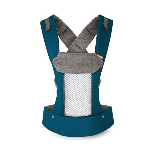 Beco 8 Babytrage von Geburt an - Teal - belüfteter Rücken, einschließlich Neugeboreneneinsatz, für Babys von 3,2 bis 20 Kilogramm, 0 bis 48 Monate