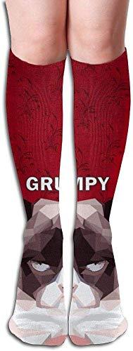 Long 50cm) Compression Socks Grumpy Cat Unisex Full Socks Long Socks Knee High Socks