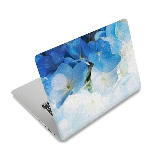 15.6' Laptop Decal Skin Vinyl Sticker Cover Compatible with ASUS VivoBook 15 /ASUS TUF Gaming Laptop/MSI GL65 Leopard /Acer Chromebook 315 15.6' Laptop Cover Skin Stickes(Blue White Flower)