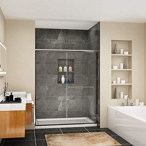 Sunny Shower B020 Frameless Bypass Sliding Shower Door