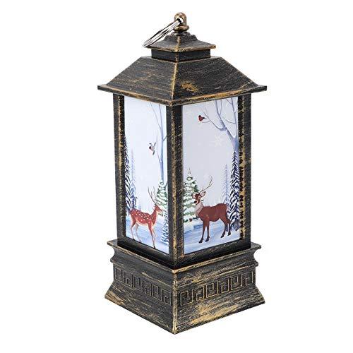 【 】Candeliere natalizio decorativo, candeliere in PVC stile retrò, per decorazione di finestre Ciondolo albero di Natale(elk)
