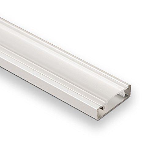 3 Stück SO-TECH® LED Profil-33 mit klarer Abdeckung je 2m für LED Streifen