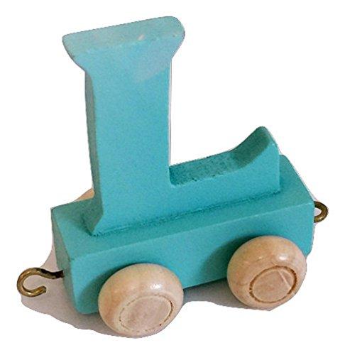 Buchstabenzug Bunt | Wunschname zusammenstellen | Holzeisenbahn | Fun World Toys® Namenszug aus Holz | personalisierbar | auch als Geschenk Set (Buchstabe: L)