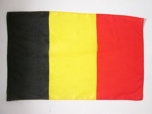AZ FLAG Bandera de BÉLGICA 90x60cm para un Palo - Bandera Belga 60 x 90 cm Poliester Ligero