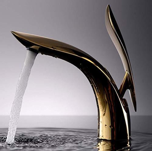 ZLININ Grifo de la fuente del cuarto de baño grifo de cobre lleno