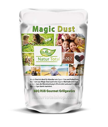 Supreme Magic Dust BBQ RUB Gourmet Grillgewürz: 250g das USA Original von Natur Total® Geschenk für Männer - Grill Gewürz Rub