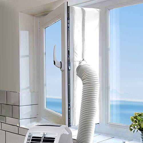 LYUNIT 400CM Fensterabdichtung für Mobile Klimageräte, Klimaanlagen,Wäschetrockner,Ablufttrockner,Hot Air Stop zum Anbringen an Fenster,Dachfenster, Flügelfenster Klimaanlage