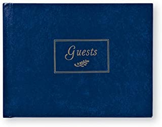 C.R. Gibson Navy Blue and Silver Foiled Guest Book for All Occasions, 7.625'' W x 5.75'' H