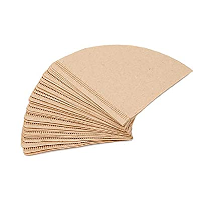 Uokoki 40pcs/box Drip Coffee Cup Unbleached Coffee Papers Cone-Shape Filter Papers,Cone-Shape Coffee Filter Papers,Disposable Papers Disposable Paper Coffee Filters