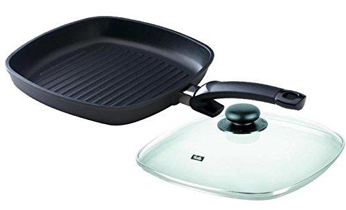 Fissler special grill 28x28 cm Grillpfanne mit Güteglasdeckel