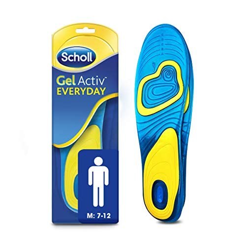 Scholl Men's Gel Activ Everyday Insoles, UK Size 7 to 12