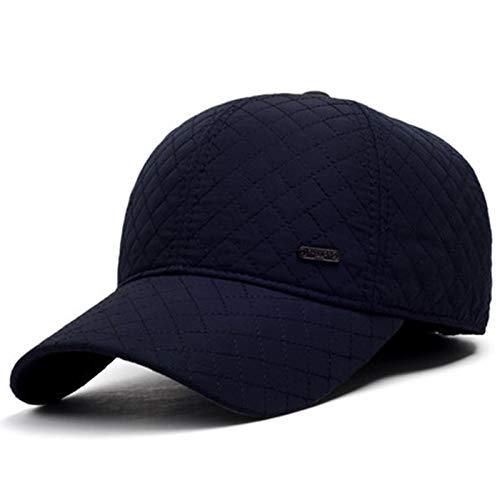 野球帽、メンズコットンクラシック野球帽調節可能なバックルピークキャップシルクハット男性用スポーツゴルフ帽子お父さんの帽子,ブルー