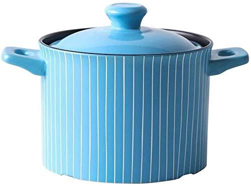 Casserole Hogar Cerámica Cera de cocina Durable Sopa Pot Stew Pot Adecuado para estufa de gas