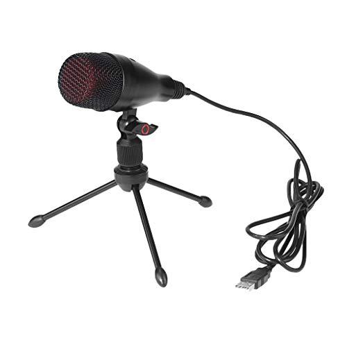 perfk Micrófono de Condensador Profesional Plug Play Home Studio Grabación Difusión