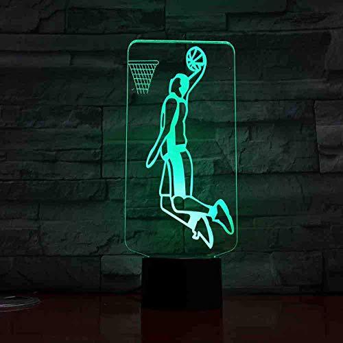 LED-nachtlampje, usb, basketbalspeler, action figuur, kinderen, cadeau, baby, nachtlampje, sport, bureaulamp, nachtkastje