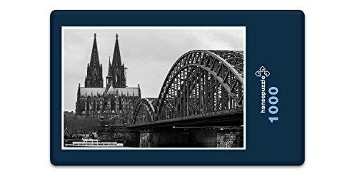 hansepuzzle 21335 Gebäude - Kölner Dom, 1000 Teile in hochwertiger Kartonbox, Puzzle-Teile in wiederverschliessbarem Beutel.