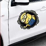 25 Home Décor Decal for Car 13Cm X 9.9Cm for Minion Peeper Creative Car Stickers Custom Printing Cartoon Car Truck Decal Accessories