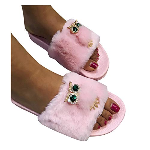 Gibobby Slippers for Women Booties Women's Nordic Slipper with Memory Foam Pink