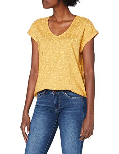 TOM TAILOR Denim Damen Sporty Bluse, 24322-yellow White dot, L