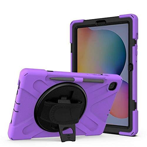 Case2go - Funda para Samsung Galaxy Tab S7 Plus (2020) - SM-T970 / SM-T976 - Resistente a los golpes - Con soporte giratorio - Morado
