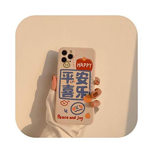 Fun-boutique - Carcasa para iPhone 12, diseño de saludos de año nuevo para iPhone X XS Max 7 11 12 Pro Max Mini 8 Plus Xr-2-For iPhone 12 Pro