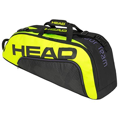 Head Tour Team Extreme 6R Combi Bolsa de Tenis, Adultos Unisex, Negro/Neon Amarillo