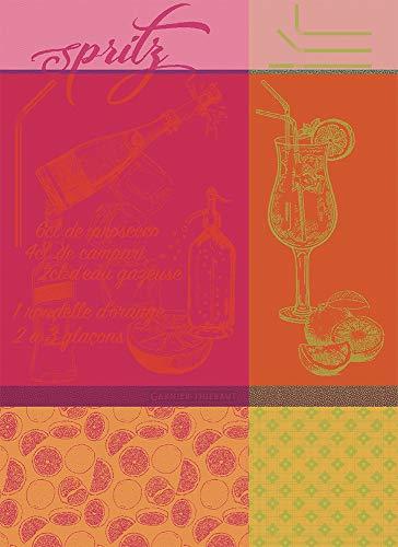 Garnier Thiebaut - Geschirrtuch, Trockentuch, Küchentuch - Spritz - Rosso - Baumwolle - 56 x 77 cm