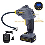 <span class='highlight'><span class='highlight'>Werktough</span></span> CQB01 20V Car Tyre Inflator,Handheld air Compressor, Cordless air inflator,Automatic Lock swiitch,Extra Long Hose,2.0A Lion Battery with Fast Charger