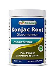 Konjac root fiber glucomannan for weight loss