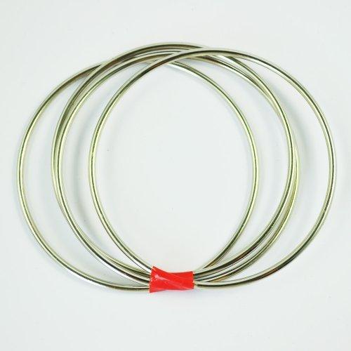 TOOGOO Magie vier miteinander verbundenen Ringe Zaubertrick Kit - das ist 1 NEU Vier angeschlossene Ringe Zauberring Kit