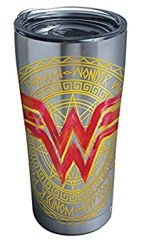 Tervis DC Comics - Wonder Woman Icon Stainless Steel Insulated Tumbler with Lid 20 oz Silver