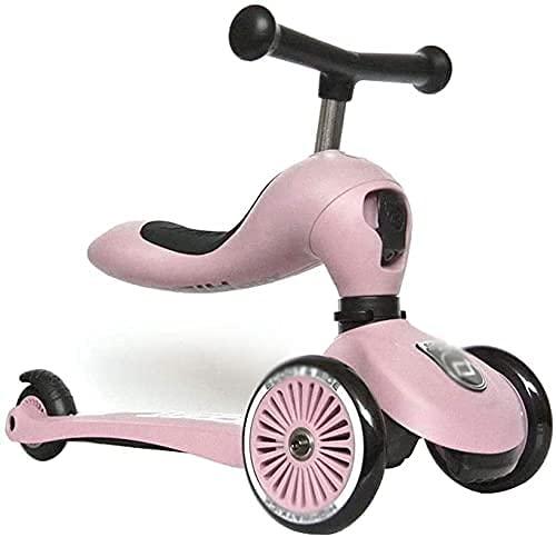 FFVWVGGPAA Patinete para Niños Rueda de PU Asiento Plegable Ajustable Asiento Sentado o con Pedal de Freno Scooter de 3 Ruedas, Patinete Infantil Juguete F00810(Color:C)