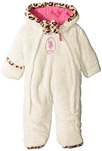 U.S. Polo Assn. Cochecito de bebé para niña (más Estilos Disponibles), Invierno Blanco a, 6-9 Meses