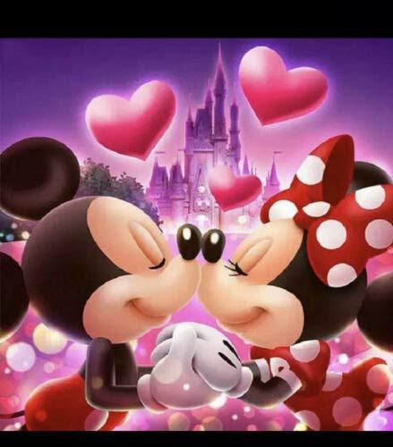 Topolino Disney & amp;Minnie Print Full Round Drill 5D Diamond Painting Kit Cross Stitch Set Mosaic Home Craft Decoration 40x50CM