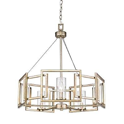 Golden Lighting 6068-5 WG Marco Chandelier, White Gold