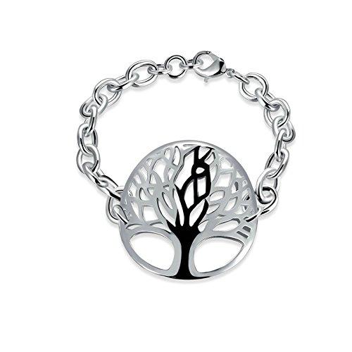 Adisaer Cobre Damas Pulsera Encanto-Pulsera Plata Cadena Árbol de La Vida Pulseras Mujeres Compromiso