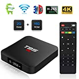 TUREWELL T95 S1 Android TV Box, Android 7.1 tv Box Amlogic S905W Quad Core 2GB RAM 16GB ROM Media Player with Digital Display HDMI Output HD 4K Ethernet WiFi 2.4GHz