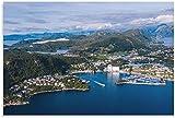 RLJHG Leinwand Bilder Norwegen Stavanger Stadtansicht
