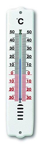 TFA 12.3009 - Termómetro de Interior y Exterior, plástico, Color Blanco