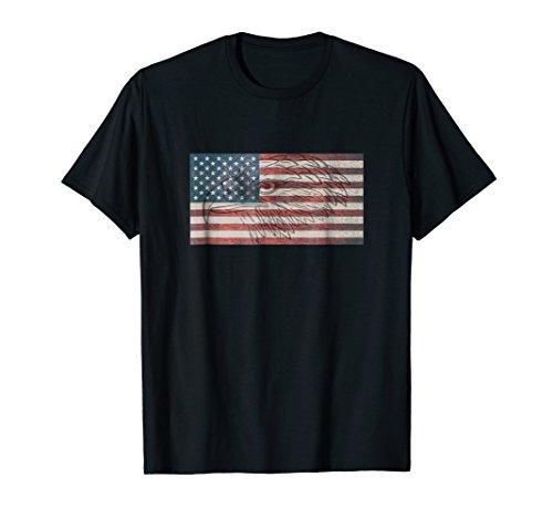 American Flag Eagle Tshirt USA
