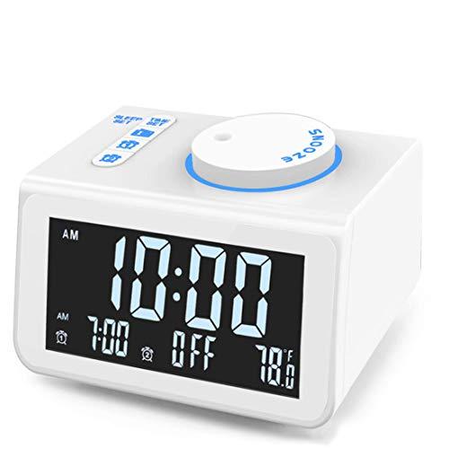 despertador a pilas blanco fabricante JALL