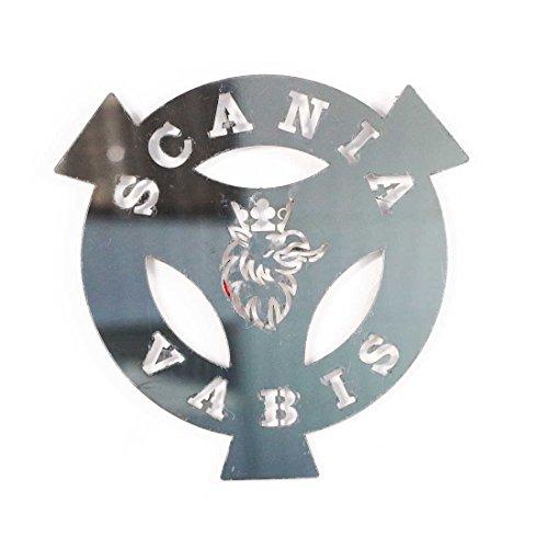 24/7Auto – Edelstahl-Logo Vabis für SCANIA alle Serien, polierte Stahl-Dekoration