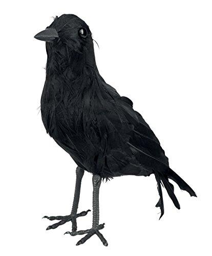 Krähe, ca. 23 cm Halloween Rabe Dekoration Deko Vogel