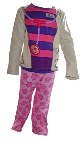 Doc McStuffins Dottoressa Peluche, Giocattolo aerztin Ragazza novità Costume Pigiama all' età di 18Mesi a 5Anni Multicolore Multicolore