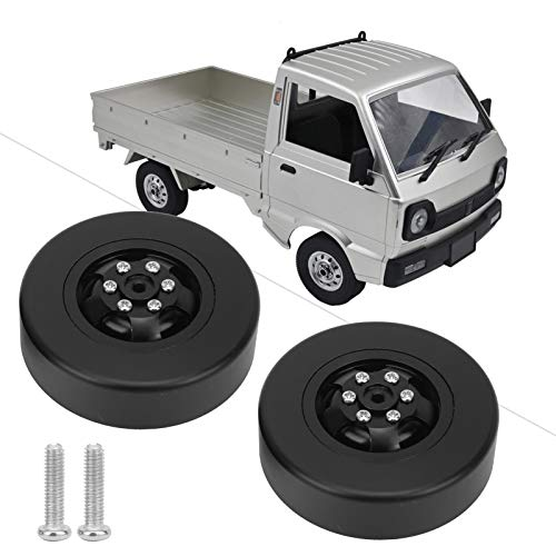 Seacanl Neumáticos RC 1/10, Neumático RC de Alta Resistencia al Desgaste con 2 neumáticos RC para vehículos RC para usuarios de Coches RC(Black BL)