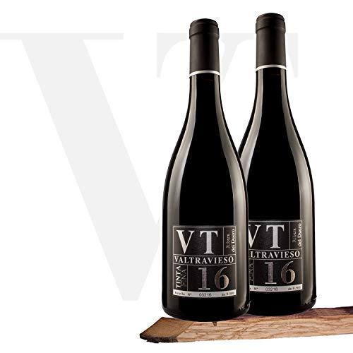 Valtravieso VT Tinta Fina - Vino Tinto Ribera del Duero Denominación de Origen | Tinto Fino 100% | Pack Lote de 2 Botellas 750 ml, Total: 1500 ml