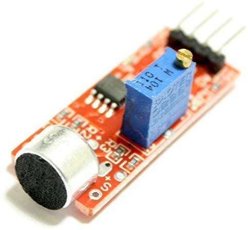 Módulo de sensor de micrófono con instrucciones PDF (idioma español no garantizado), por ejemplo, para Arduino, control de interruptor de aviso | detector de sonido con salida analógica y digital
